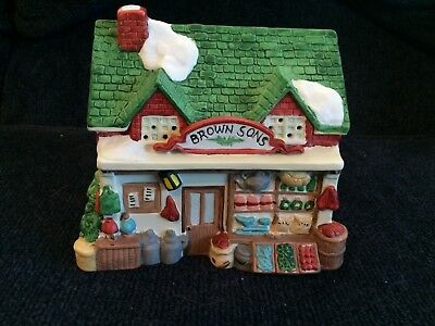 Dept.56 Dickens' Winter Village Series  Brown Sons General Store #ST803