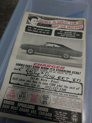 dodge ad charger mr norm grand spaulding scat pack hemi 440 poster 68