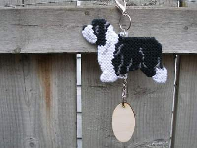 Bearded Collie dog crate tag or hang anywhere handmade sign ornament, beardie