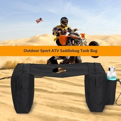 ATV Front Bag Beach Quad Tank Saddlebag Motorbike Tools Bottle Side Storage Pack