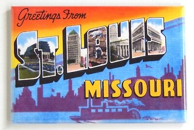 Greetings from St Louis Missouri FRIDGE MAGNET (2.5 x 3.5 inches) style B