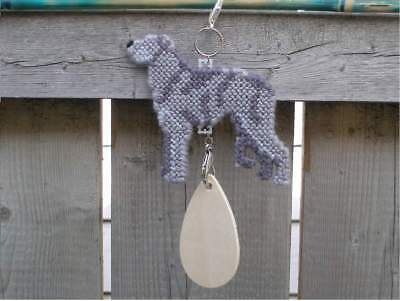 Scottish Deerhound dog crate tag or hang anywhere handmade sign any day ornament