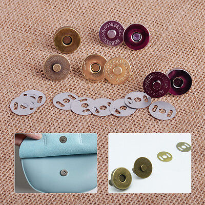 New 18mm Round Magnetic Snaps Closures Button Clasp Press Studs Round Bag Purse