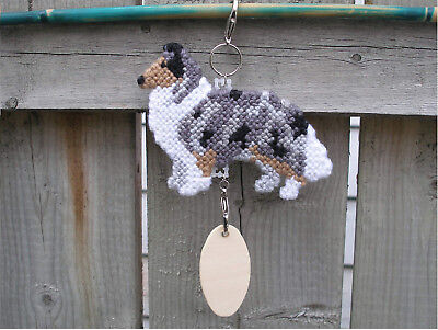 Collie Rough #2 dog crate tag hang anywhere handmade pet sign any day ornament