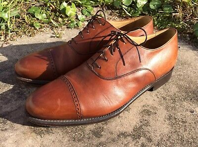 Florsheim Barletta Series Men's  Brown Cap Toe Oxfords Size 11 D Made In Italy