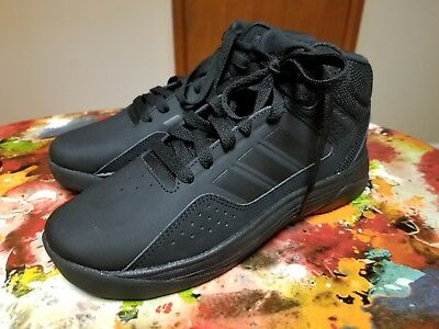 adidas NEW Youth Black Leather High Tops size 4 M