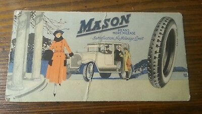 Advertising Ink Blotter Mason Tires