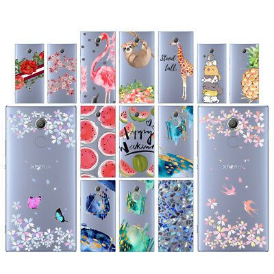 Flowers Soft TPU Silicone Case For Sony Xperia XA2 Ultra Phone Back Cover Skin