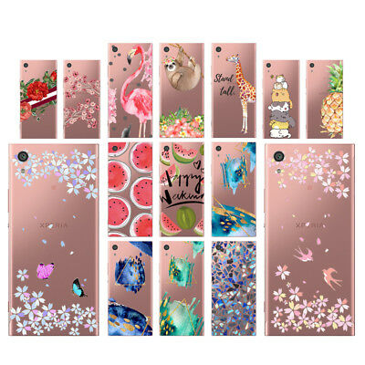 Flowers Soft TPU Silicone Case For Sony Xperia XA1 Ultra Phone Back Cover Skin
