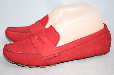 bb086fb3ad4 COLE HAAN AIR Sadie Driver Wo s 6B Red Nubuck Penny Loafer D38753 ...