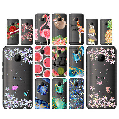 Flowers Soft TPU Silicone Case For HTC One M9 Protective Phone Back Covers Skins