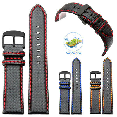 High Quality Carbon Fibre Leather Sport Wrist Strap Band For Samsung Smart Watch