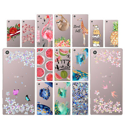 "Flowers 5.2"" Soft TPU Silicone Case For Sony Xperia Z5 Phone Back Cover Skin"