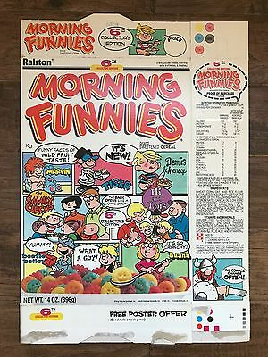 """1988 Vintage Ralston """"MORNING FUNNIES"""" (6th Collector Edition) Cereal Box, RARE!"""