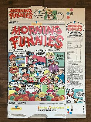 """1988 Vintage Ralston """"MORNING FUNNIES"""" (1st Collector Edition) Cereal Box, RARE!"""