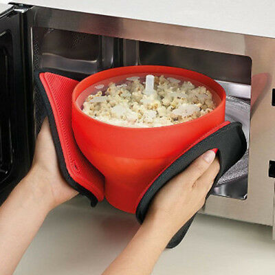 Kitchen Cookware Tool Microwaveable Popcorn Maker Bowl Foldable Silicone Big GG