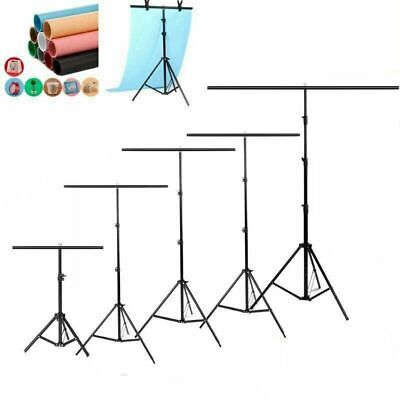 T Backdrop Stand PVC Background Photo Studio Photography Support System + Clamp