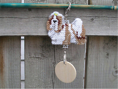Shih Tzu #1 w/ Yellow bow dog crate tag or hang anywhere handmade sign ornament