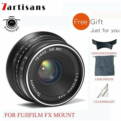 7artisans 25mm f/1.8 manual focus lens for Fujifilm FX mount X-A  X-M X-T X-Pro