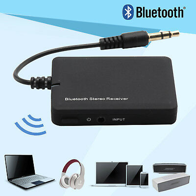 Wireless Bluetooth 4.0 Audio Stereo Music Receiver 3.5mm Car Aux Adapter A2DP UK