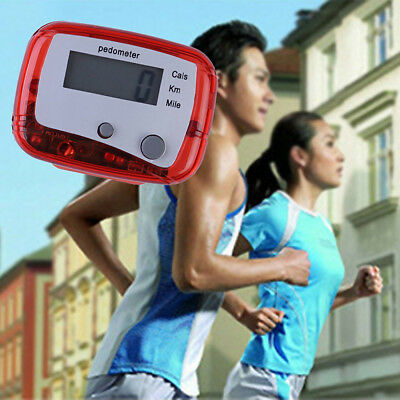 LCD Pedometer Step Walking Jogging Hiking Calorie Counter Distance Sport Fitness