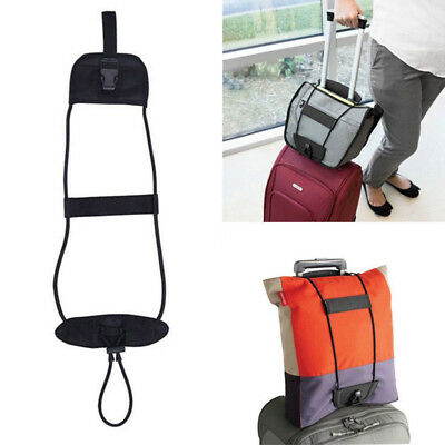 Black Add Bag Strap Luggage Suitcase Adjustable Belt Carry On Bungee Travel 1P