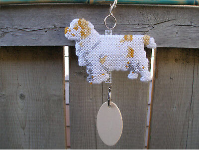 Clumber Spaniel #1 dog crate tag or hang anywhere handmade pet sign ornament