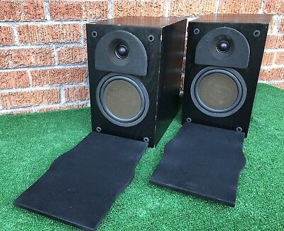 Clean Pair Of PHASE TECHNOLOGY PC1 Bookshelf SPEAKERS Vintage Ships 48 FAST