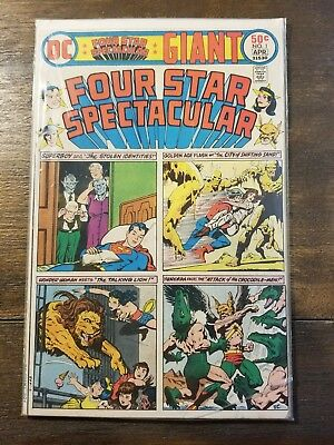 Four Star Spectacular #1 (Mar-Apr 1976, DC) Superboy Flash Wonder Woman Hawkman