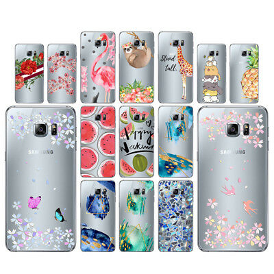 Flowers Cases For Samsung Galaxy S6 Edge Plus Soft TPU Silicone Back Cover
