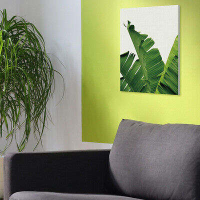 Green Plants Canvas Art Wall Poster Tropical Leaves Contemporary Pictures