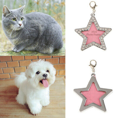 Glitter Nameplate Frame Pet ID DIY Name Tags Dog Cat Necklace Tag Personalized