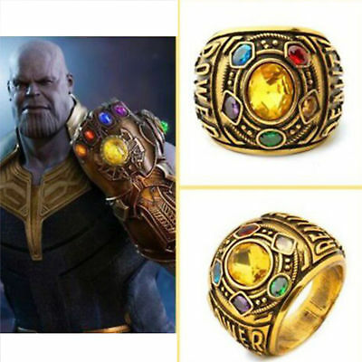 2018 THANOS Infinity Gauntlet POWER RING Avengers The Infinity War Stones 9-11