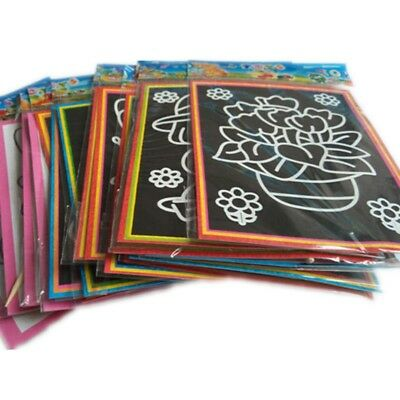 20Pcs Two In One Magic Colorful Scratch Paper Drawing Coloring Cards For Kids
