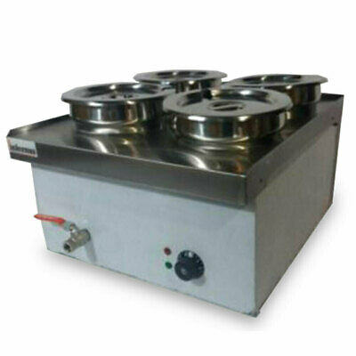 Commercial Wet BAIN MARIE with TAP  4x7L Round Pots - Electric  2018