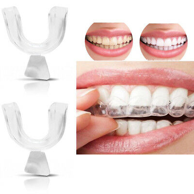 4Pcs Clear Silicone Dental Mouth Guard Sleep Aid Night Teeth Tooth Grinding NEW