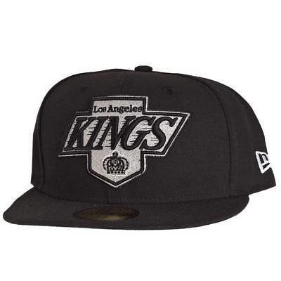 New Era Official 59FIFTY NHL Los Angeles Kings 7 1/8 Big One Black Cap LA