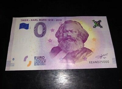 karl marx 0 euro 2018. 200 Year Anneversary Note Authentic