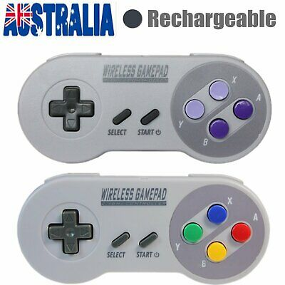 2pcs Wireless Controller Gamepad For Super Nintendo SNES Classic Mini Console