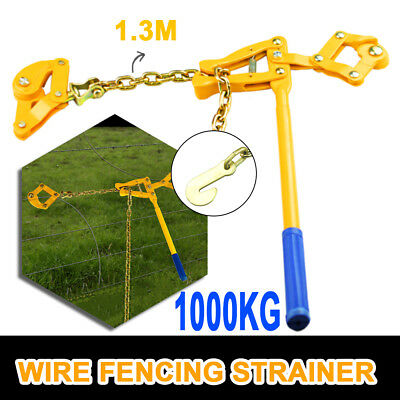1.3M Chain Wire Fence Strainer Plain & Barbed Chain Fencing Repair Gripple Tool