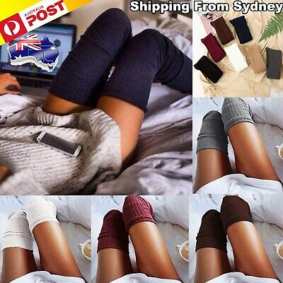 Women Girl Over The Knee Socks Thigh High Long Cotton Stockings Leggings Fashion