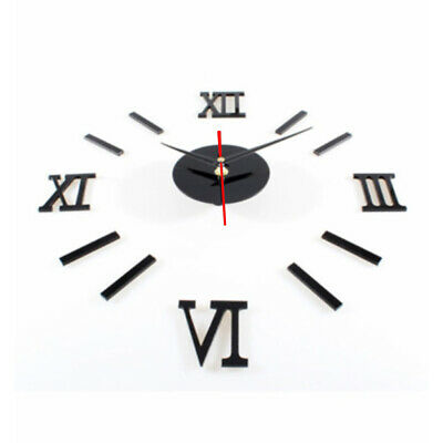 Chic DIY Wall Clock 3D Time Interior Mirror Sticker Home Office Wall Decal