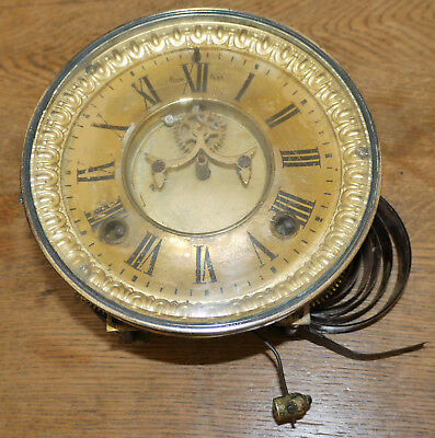 Ansonia open escapement mantle clock movement for repair or parts;