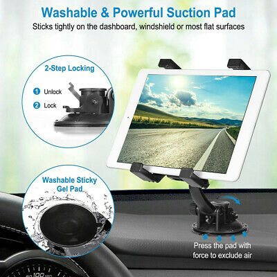 "360° Rotating Car Windshield Mount Holder Stander For iPad 7"" -10.1"" inch Tablet"