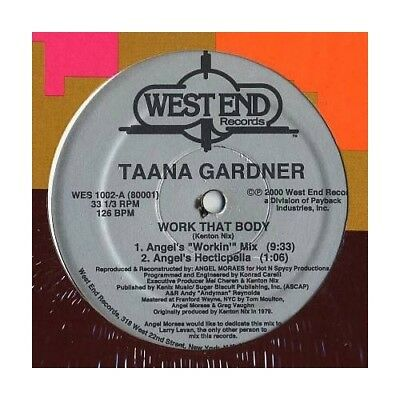 "12"": Taana Gardner - Work That Body - West End Records - WES 1002"