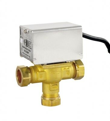 Tower VAL328MP 28mm Mid-Position Motorised Zone Valve Replaces Honeywell v4073A