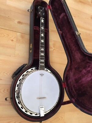 TOP Vintage Vega Tenor Banjo  (126625) 4 String 19 Fret Original Lifton-Case