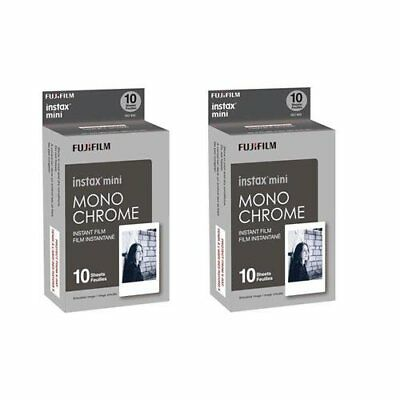 Fujifilm Instax Mini Film Monochrome 2 Pack 20 sheets
