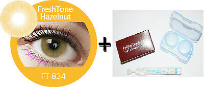 Contact Lenses Colored FRESHTONE® Hazelnut + Case + AVIZOR solution 10 ML
