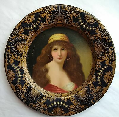 Antique Tin Lithographed Advertising Plate 1905 Havana Post Gold Hat
